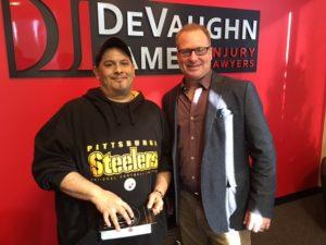 C.P. with attorney Dustin DeVaughn