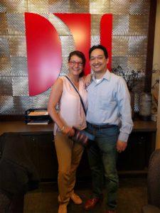 Client K.M. with attorney Alex Gentry