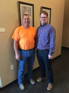 R.L. with attorney Ted Davis