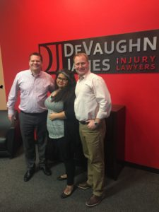 S.C. with attorneys Dustin DeVaughn and Richard James