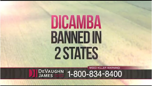 Dicamba herbicide banned in two states