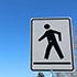 Pedestrian Crossing or Crosswalk Sign Thumbnail