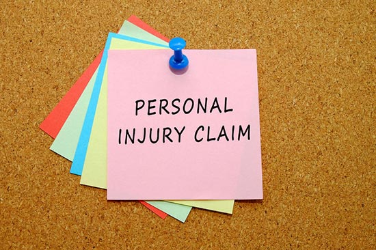 Personal injury claim note
