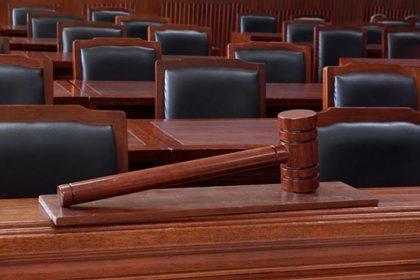 Empty Court and Jury Room