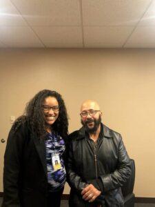 Client G.D. with attorney Jasmin Fields