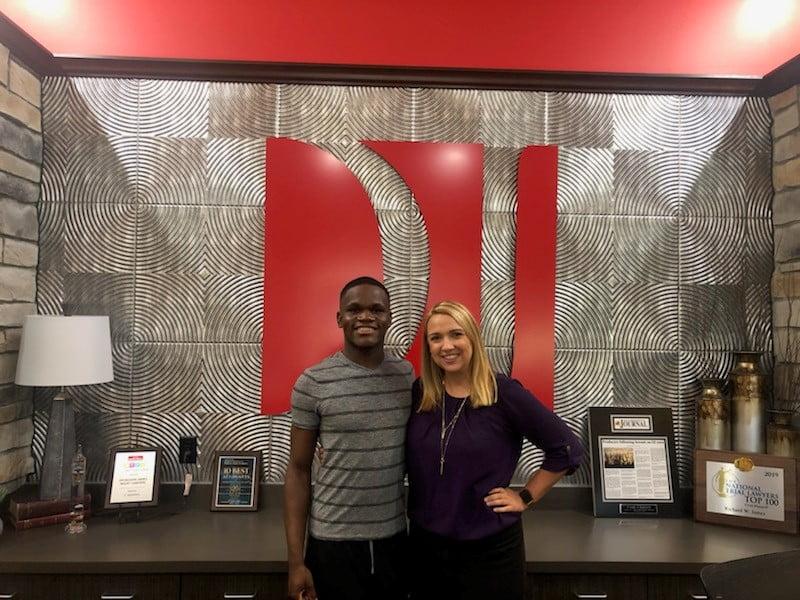 Client K.W. with attorney Jessica Brunken