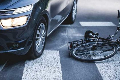 Bicycle and car collision injuries