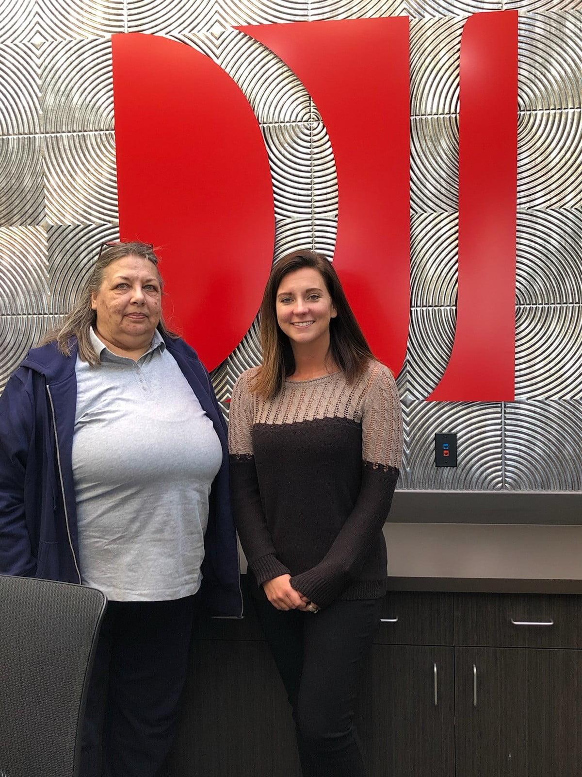Attorney Heather Nizzio with client U.M.