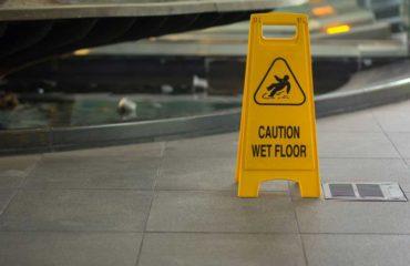 Slip and Fall Injury on wet floor