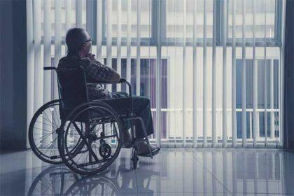 Lonely nursing home resident