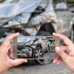 Photos being taken of car wreck