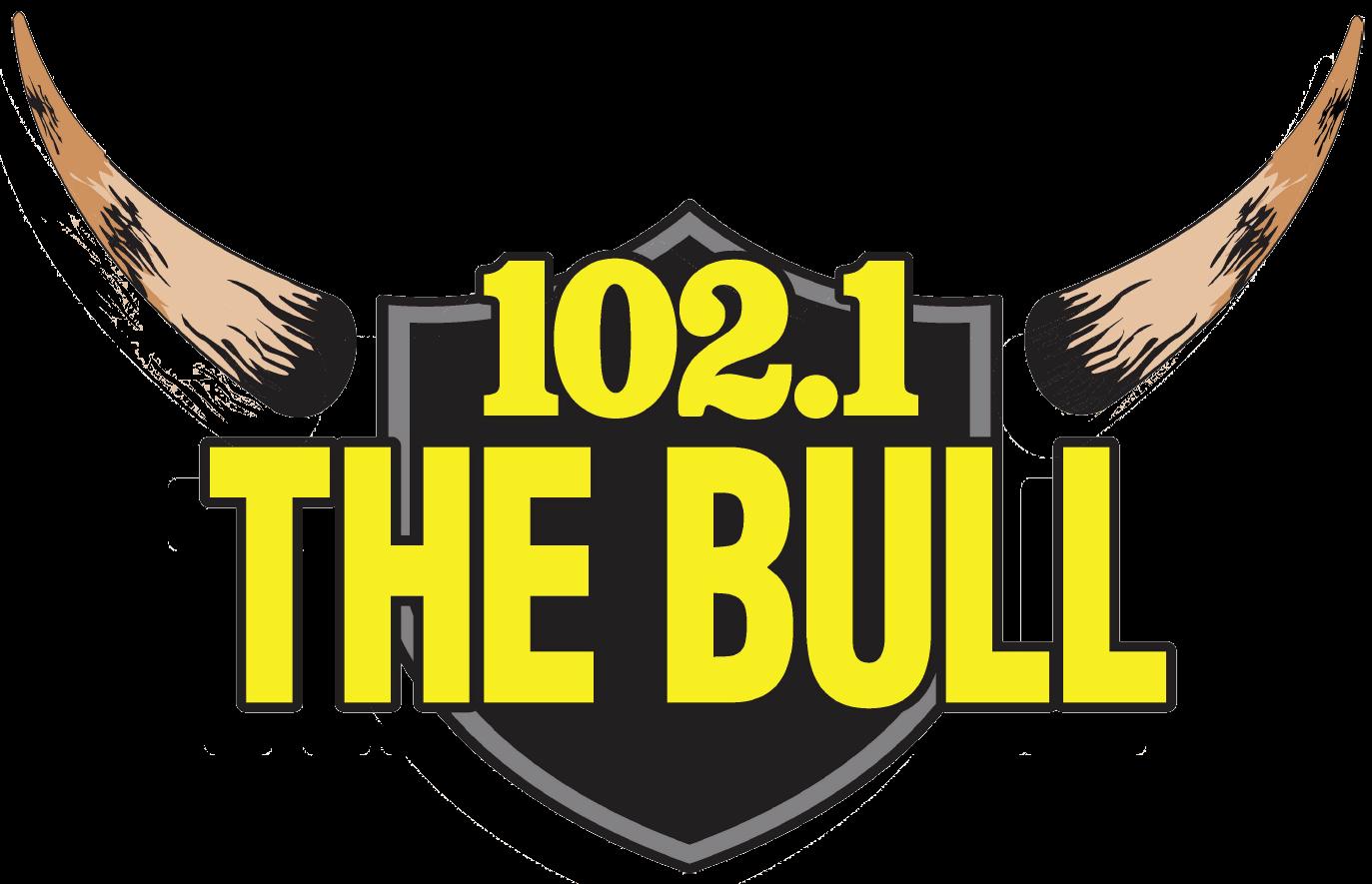 102.1 The Bull Radio Station Logo