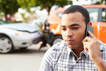 Car Accident Victim Calling Lawyer